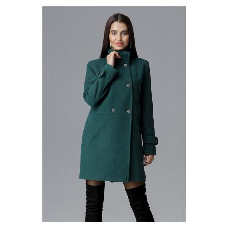 Tmavě zelený kabát M623 Figl