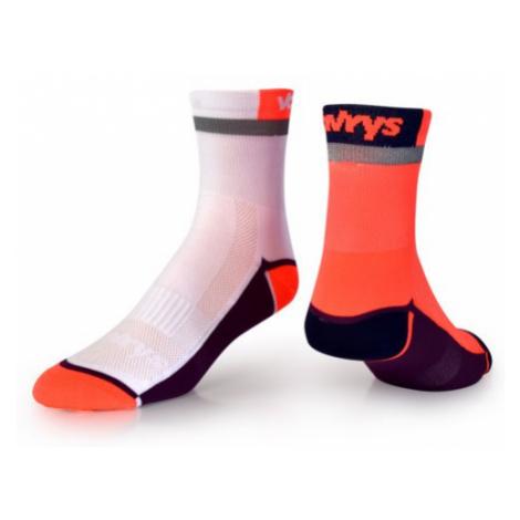 Ponožky Vavrys Trek Cyklo 2-pack oranžová-bílá