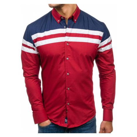 Pánská košile BOLF 6885 bordová