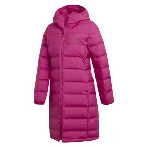 adidas W HELIONIC PARKA červená - Dámský kabát