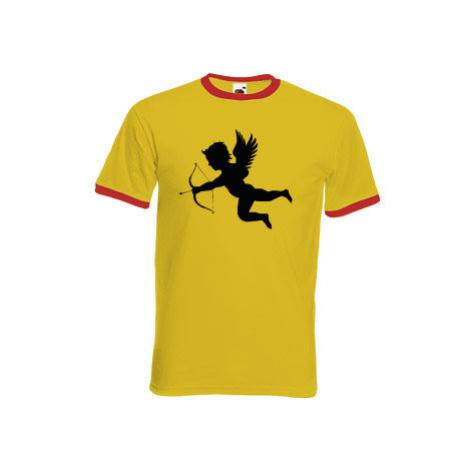 Pánské tričko s kontrastními lemy Amorek