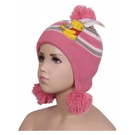 Medvídek pú růžová čepice Disney