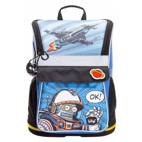 BAAGL Školní aktovka Zippy Spaceman A-7200 18 l - modrá