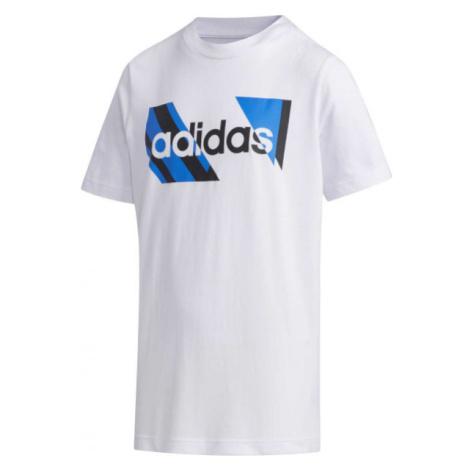 adidas YB Q2 T bílá - Chlapecké tričko