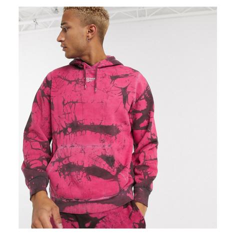 Reebok classics tie dye hoodie in pink and black exclusive to asos