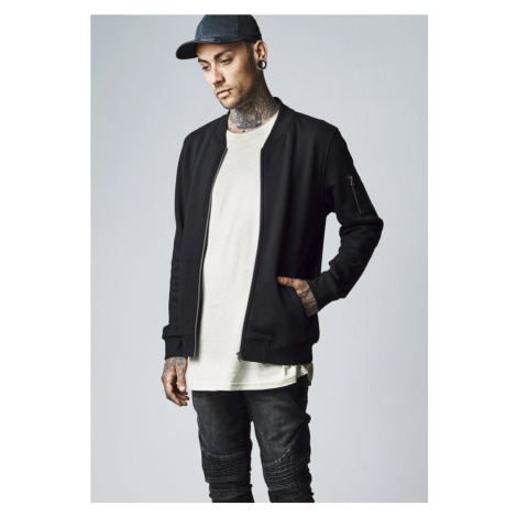 Sweat Bomber Jacket - black Urban Classics