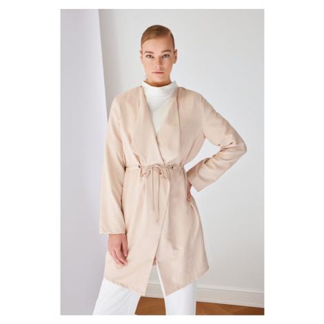 Trendyol Beige Shawl Collar Jacket