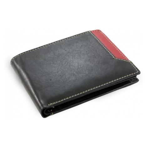 Černá pánská kožená peněženka Nenden Arwel