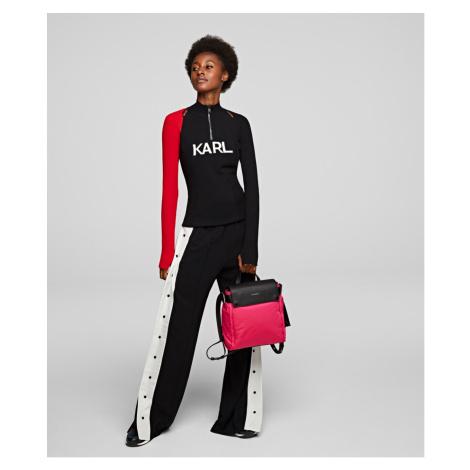 Kalhoty Karl Lagerfeld Wideleg Snap Pants - Černá