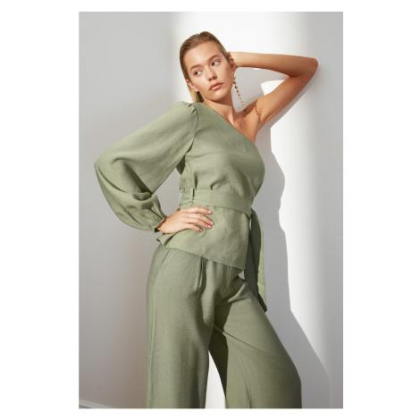 Trendyol Green One Shoulder Blouse