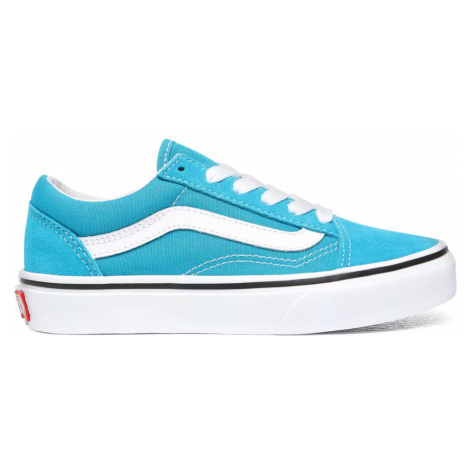 Vans Uy Old Skool Caribbean Sea/True White Kids modré VN0A4BUUWKM