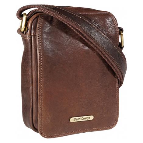 Kožená taška přes rameno SendiDesign 52006 hnědá Sendi Design