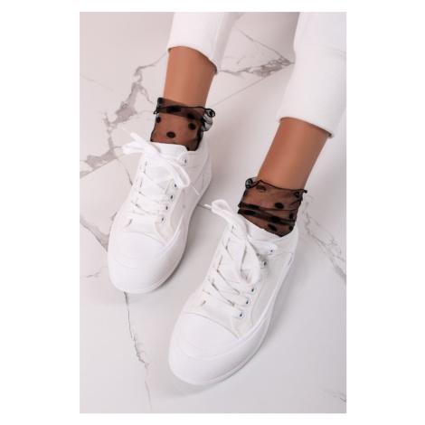 Bílé plátěné tenisky Becky Ideal