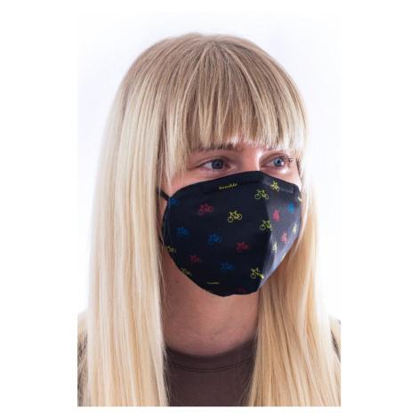 Černá vzorovaná ochranní maska s filtrem FFP3 Cyklista černý Fusakle