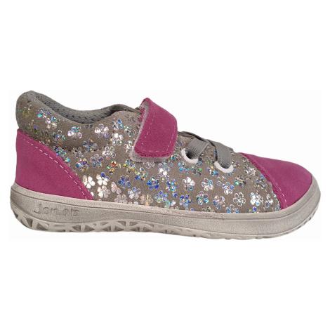 boty Jonap B12SV růžovo šedé