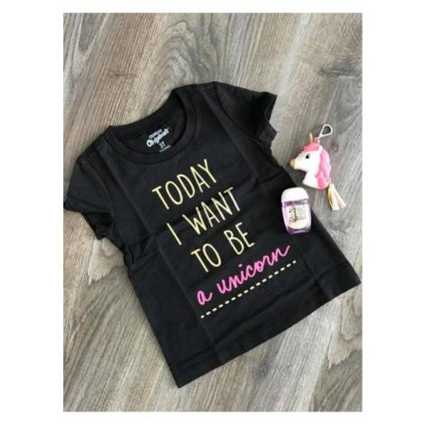 OshKosh dětské tričko černé