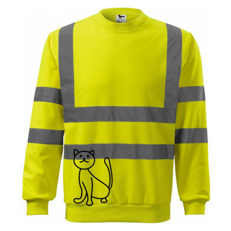 Kočka kouká - Reflexní mikina