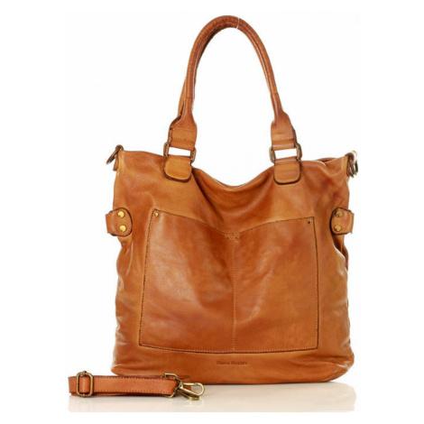 Přírodní kožená taška model 133026 Mazzini universal