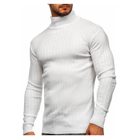 Bílý pánský svetr rolák Bolf 520