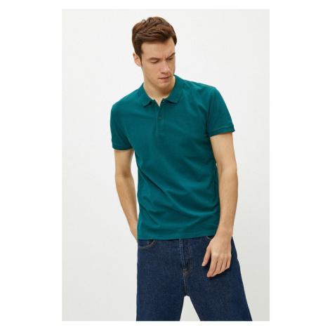 Koton Men's Dark Green Polo Neck T-Shirt