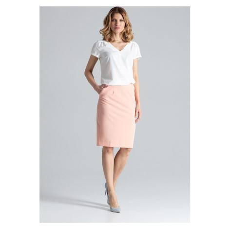 FIGL Růžová rovně střižená sukně M260