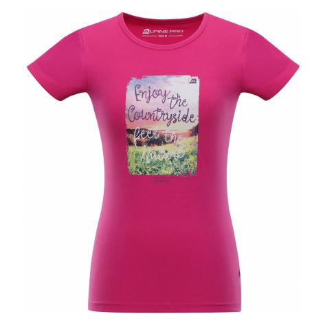 Dámské triko Alpine Pro UNEGA 2 - růžová