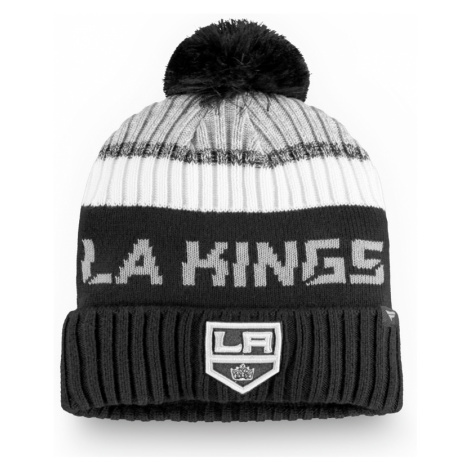 Čepice Fanatics Authentic Pro Rinkside Goalie Beanie Pom Knit NHL Los Angeles Kings