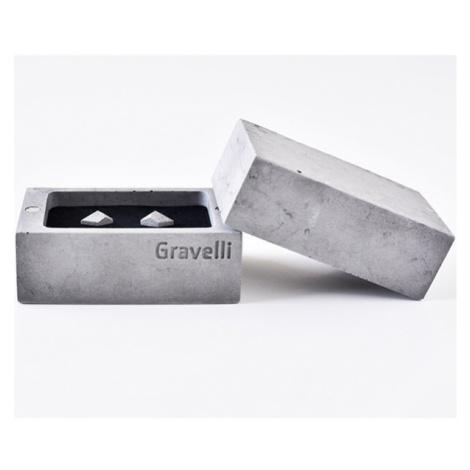 Naušnice Rock – světle šedé GRAVELLI JEWELLERY