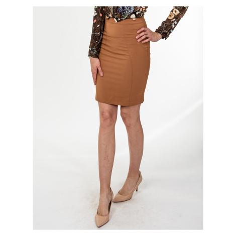 Světle hnědá elastická sukně - MET JEANS