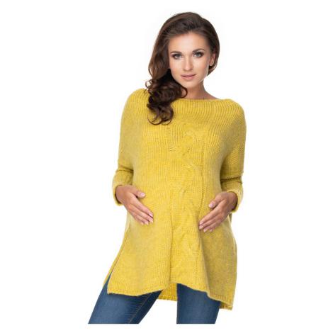 Žlutý těhotenský pulovr 30075 PeeKaBoo