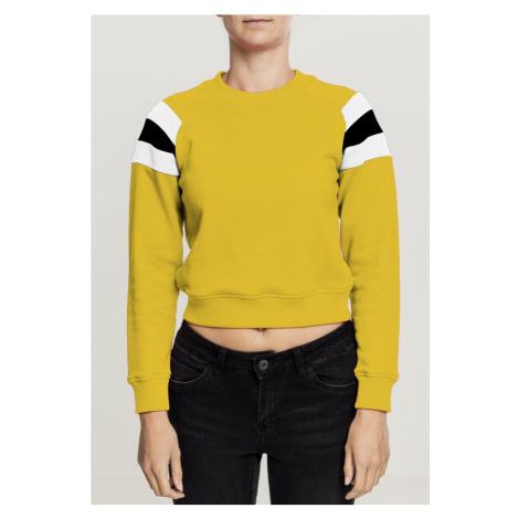 Ladies Sleeve Stripe Hoody - honey/white/black Urban Classics