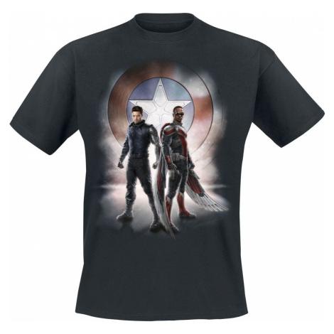 The Falcon And the Winter Soldier Pose Tričko černá
