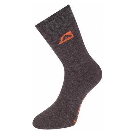 ALPINE PRO OTHAR Unisex hřejivé ponožky merino USCP058779PA tmavě šedá
