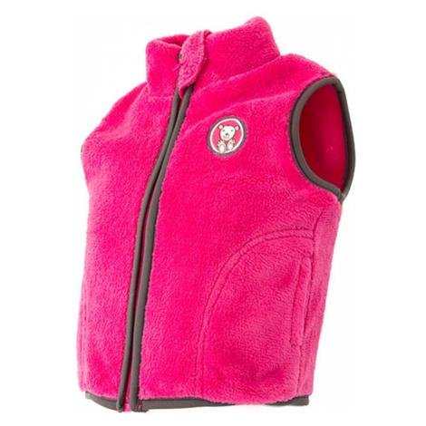 Růžová dívčí chlupatá vesta Jenson Pidilidi