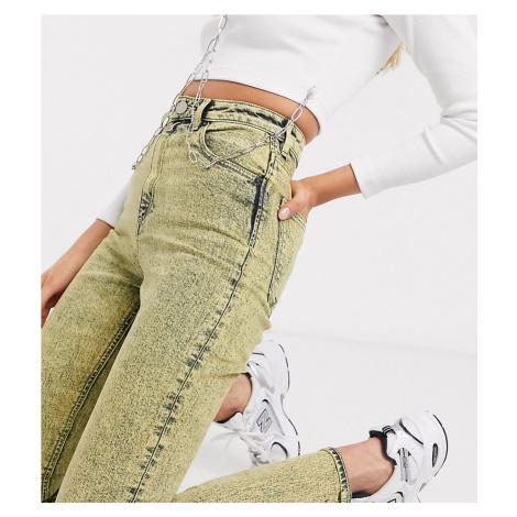 ASOS DESIGN Tall Farleigh high waist slim mom jeans in lemon acid-Yellow
