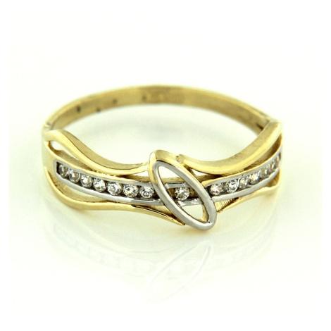 Zlatý prsten 25204 AMIATEX