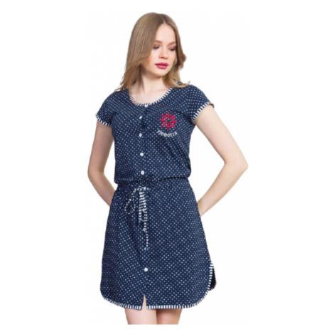 Dámské domácí šaty Vienetta Secret Kormidlo   tmavě modrá