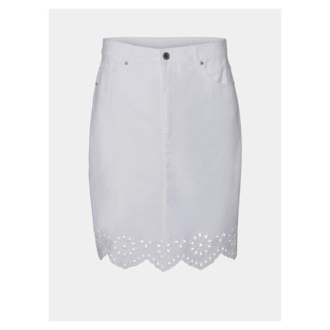 Vero Moda bílá džínová sukně Lisa