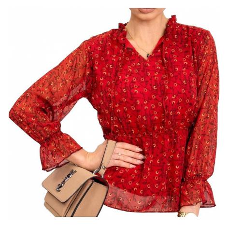 červená dámská halenka se vzorem Rue Paris