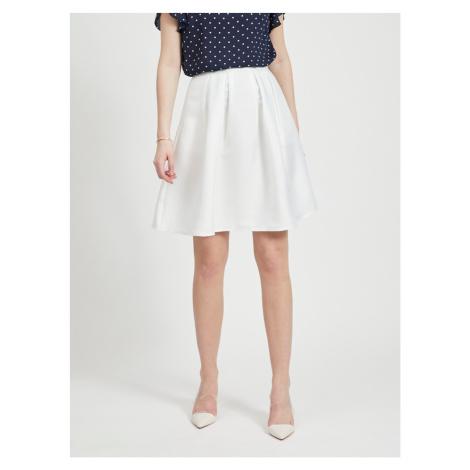 Bílá sukně VILA Kamma
