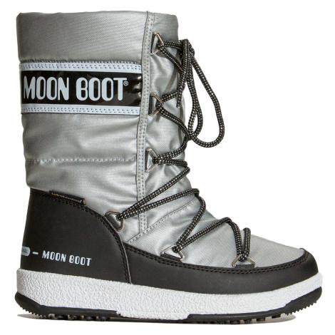 Boty Moon Boot JR G.QUILTED WP stříbrná