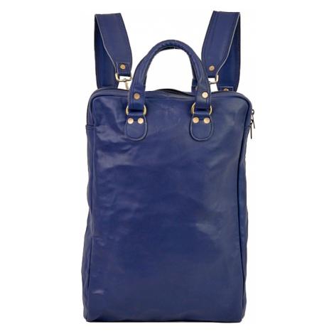 Bagind Origo Atmos - Dámský i pánský kožený batoh modrý, ruční výroba, český design