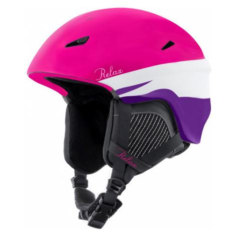 RELAX WILD Lyžařská helma RH17N růžová