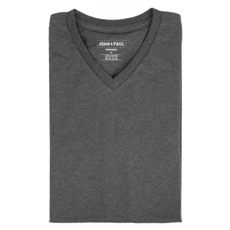 Pořádné tričko John & Paul - šedé (V-neck)