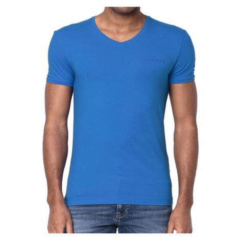 Guess pánské tričko U92M07 modré - Modrá