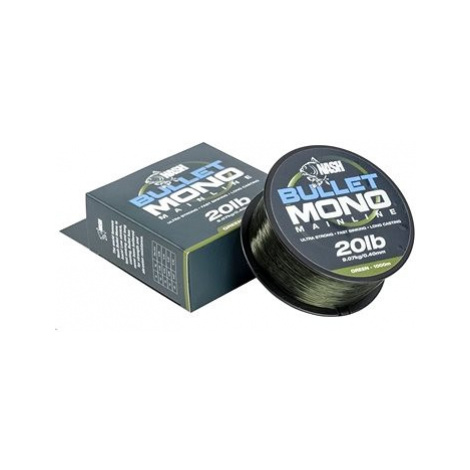 Nash Bullet Mono 0,37mm 15lb 1000m Green