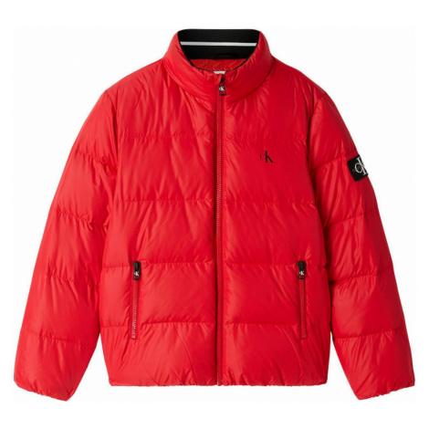 Calvin Klein Calvin Klein pánská červená bunda DOWN PUFFER JACKET