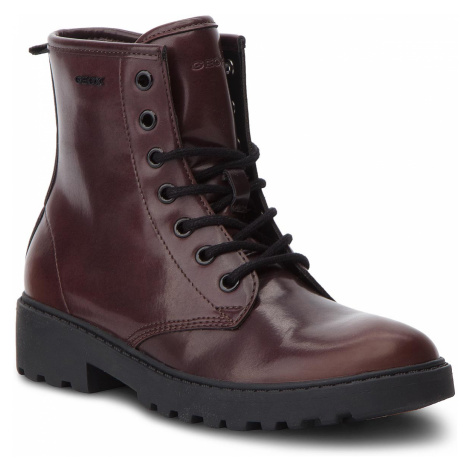 Turistická obuv GEOX - J Casey G. K J5420K 000CN C7357 S Dk Burgundy