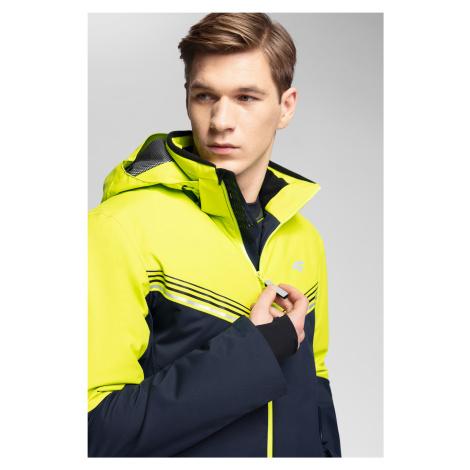4F Pánská lyžařská bunda 4Hills KUMN100 - šťavnatá zelená