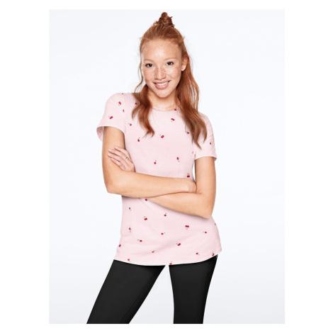 Victorias Secret pohodlné světle růžové triko Perfect Crew Tee Victoria's Secret